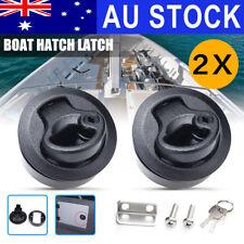2x Slam Latch Hatch Flush Pull Slam w/Lock 1/2'' Door for M1-43 RV Marine Boat