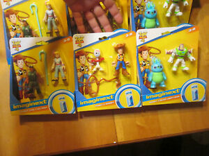 LOT IMAGINEXT DISNEY PIXAR TOY STORY 4 FORKY WOODY BUZZ LIGHTYEAR + SET COMPLETE