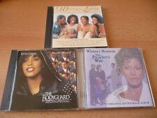3 CD Set colonna sonora Whitney Houston: guardia del corpo + The Preacher 's wife + waiting T