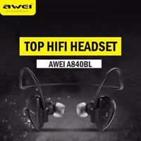 Awei Wireless Bluetooth Sports Stereo Headset NFC Headphone Earphone Mic A840BL