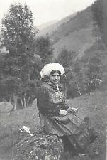 PHOTO VINTAGE : FEMME BEZIERS 1935 COIFFE Portrait Hérault Languedoc Roussillon