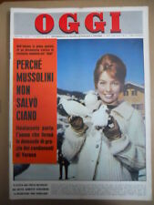 OGGI n°4 1963 Annette Stroyberg Mina Mazzini Brigitte Bardot Bette Davis  [C53A]