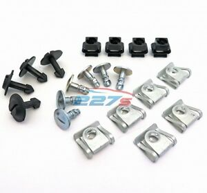 Audi Engine Undertray & Underbody Shield Clips & Fasteners Kit A3, A4, A6, A8