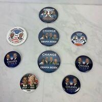 Barak Obama, Joe Biden Campaign Buttons Lot Of 9