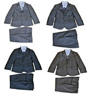 Boys Wedding Suit Grey Suits 5 Piece Party Prom PageBoy Suit 2-12 Years