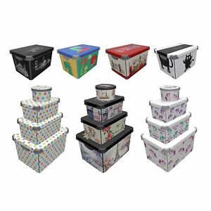 Maqio 22 Litre IML Print Decor Stockholm Storage Box