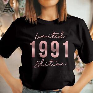 30th BIRTHDAY T-shirt Retro Vintage LIMITED EDITION 1991 gift for Mum Dad 503_RG