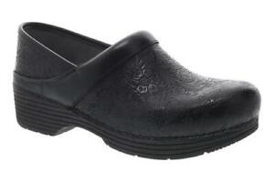 Dansko LT PRO Black Floral Tooled Women's Clogs  - NEW -  Choose Size