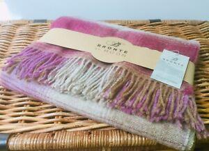 Bronte By Moon Shetland Heather Kilnsey Check Blanket Throw 100% Merino wool