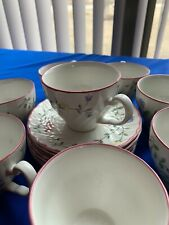 Summer Chintz Cup Saucer Johnson Brothers England floral 8 Cups 6 Saucers