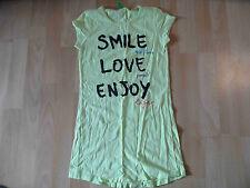 BENETTON schönes Longshirt smile love enjoy gelb Gr. 152? TOP SH616