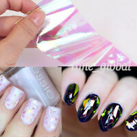1Pc Nail Art Transfer Foils Sticker Decal Shiny Laser Holographic Paper