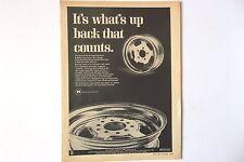 Vintage 1969 Keystone Mag Rims Wheels Original Print Ad Car Automobile Rim