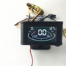 LCD Car Dash Water Temperature Monitor Oil Pressure Meter Voltage Gauge 12V 24V