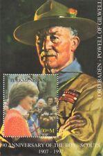 90th anniversario della Boy Scout Baden-Powell gliel 'Principessa Diana Gomma integra, non linguellato FRANCOBOLLO SHEETLET