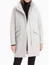 J.Crew Women's Nello Gori Italian Stadium-Cloth Wool Cocoon Coat Grey Size 10 P