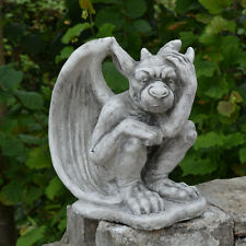 Massive Steinfigur Gargoyle - Der Nachdenkliche Torwächter Steinguss frostfest