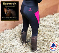 Easytrek Riding Tights Ladies Breeches Full Silicone Seat - All Sizes Stretchy