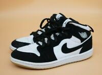 Nike Air Jordan 1 Mid White Black Teal Tint (PS) Youth Size 1Y Shoes