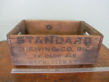 Antique Vintage Standard Brewing Co Rochester NY Wooden Beer Crate Case