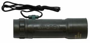 Alpen Optics 10x Magnification 25 mm Monocular w/Carrying Case BK7 coated Lenses