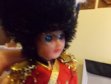 Vintage Flag Officer British Collectible Doll With Vivid Blue Sleep eyes 8 Inch