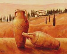 Karsten Kirchner: Idyllic Paradise Leinwand-Bild 24x30 Wandbild Toskana