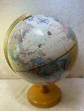 "Vintage Replogle 12"" World Classic Series Desktop Globe Raised Relief Unusual"