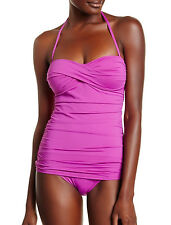 Tommy Bahama SwimSuit One Piece Womens Shirred Twist Front Bandeau AU10 NEW