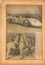 England car Silver Bullet speed/Hungary Hongrie Admiral Horthy 1930 ILLUSTRATION