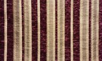"Chenille fabric Burgundy Stripe Upholstery  Drapery fabric by the yard 57"" Wide"