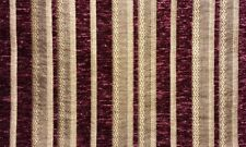 """Chenille fabric Burgundy Stripe Upholstery Drapery fabric by the yard 57"""" Wide"""