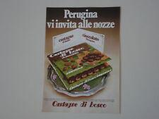 advertising Pubblicità 1972 PERUGINA CASTAGNE DI BOSCO
