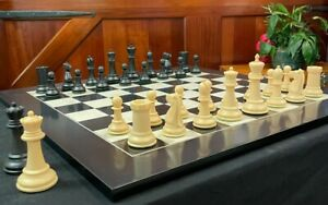 Marshall Series Chess Set - Weighted Plastic - 3.75 King - Black & Natural