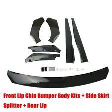 Black Car Front Bumper Lip Spoiler Rear Side Skirt Splitter Universal Kit Fits Cayenne