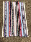 Woven Fabric Strips Rug Multicolor 30x18 1/2 Hallway Lodge