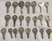 Vintage Lot Of 22 Cheney England, Diamond, Tuff, Suitcase Luggage Trunk Keys (k4
