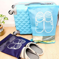 Shoes Dust Cover Bag Portable Travel Carry Storage Pouch Drawstring Organizer