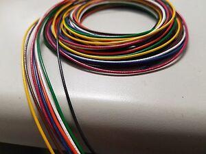 28 AWG Gauge Stranded Hook Up Wire Kit (5 ft) Ea 8 Color UL1007 300 Volt