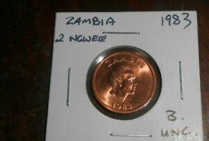ZAMBIA1983 2 NGWEE UNC/BU  COIN