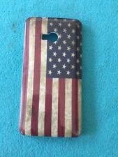 Hardcase für HTC One M7 Retro Flagge USA 🇺🇸 Neu & OVP