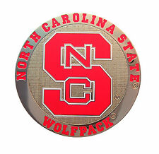 North Carolina State Wolfpack Round Metal NCAA Logo Magnet
