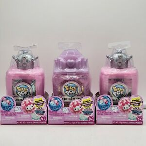 Pikmi Pops Cheeki Puffs Perfume Bottle W/Scented Plushie &Surprises-Lot of 3 New