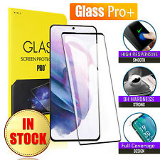 For Samsung Galaxy S21 Ultra S21 Plus Full Cover Tempered Glass Screen Protector