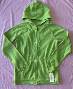 Cat & Jack Boys' Fleece Zip-Up Hoodie green size XL(16)
