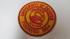 University of Denver Colorado Seminary Embroidery Patch, 3 inch