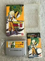 DRAGONBALL Z SFC Super Famicom SNES NTSC-J JAPAN Import CIB F/S Tested works
