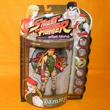 1999 RESAURUS CAPCOM STREET FIGHTER ROUND ONE CAMMY FIGURE MOC CARDED PLAYER 1