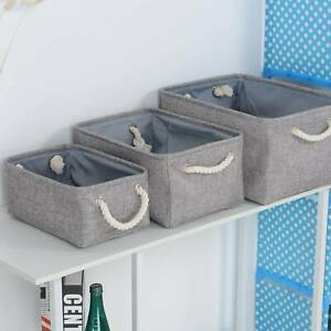 Foldable Storage Box Fabric Small Toy Cosmetic Case Carry Basket Desk Organiser
