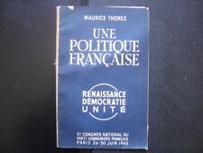 Programme 1945 Maurice THOREZ Politique francaise Xe congres Parti Communiste